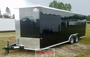 new 2020 8 5x20 Tandem Axle V nose Enclosed Cargo Trailer W Ramp 5 Yr Wnty