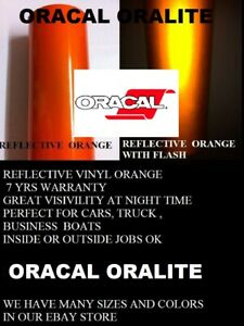 12 X 5 Ft Orange Reflective Vinyl Adhesive Sign Made In Usa Oracal Oralite