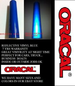 12 X 10 Ft Blue Reflective Vinyl Adhesive Sign Made In Usa Oracal Oralite