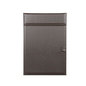 Pu Leather A4 File Clipboard With Pen Holder Writing Pad For Business Office