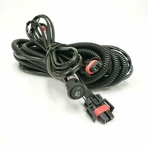 9 Ft Wiring Harness H11 2 Plugs Wire For Fog Light On Off Switch Relay 12v 30a