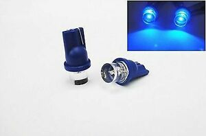 2pc Blue Led T10 168 194 2825 W5w Wedge Fit Chevrolet License Plate Light Bulb