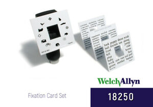 Welch Allyn 18250 Fixation Card Set For Retinoscopes new