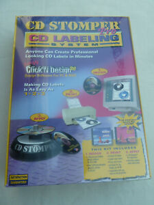 New Sealed Cd Stomper Pro Cd dvd Labeling System Create Personal Labels