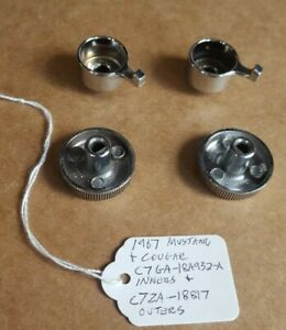 67 1967 Oem Ford Mustang Dash Radio Knob Knobs Inner Outer Full Set Non Console