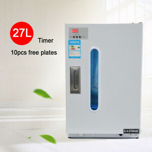 27l Dental Medical Uv Sterilizer Disinfection Cabinet With 10 Free Plates timer