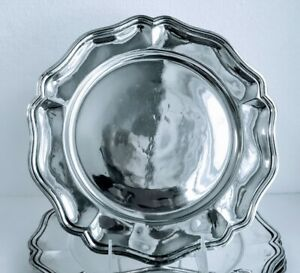 6 Classic Antique Dinner Charger Plates 900 1000 Pure Silver S American 95 7ozt
