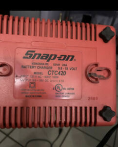 Snap On Dual Impact Battery Charger 9 6v 18v Ctc 420