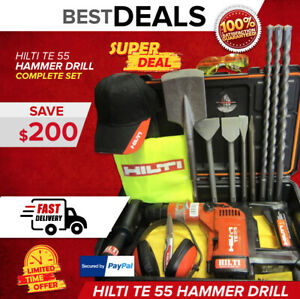 Hilti Te 55 Hammer Drill Looks Great Free Drill Bits And Chisels German Made
