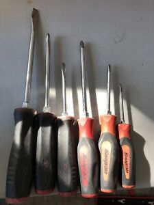 Snap On 6 Piece Soft Grip Screwdriver Set Similar To Sgdx60br
