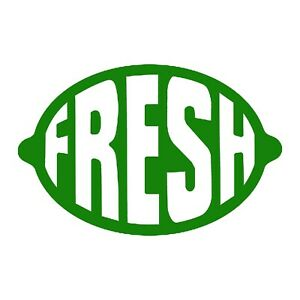 Fresh Sticker New Auto Decal Choose Color Size
