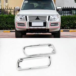 Abs Front Fog Light Lamp Cover Trim For Mitsubishi Pajero Montero Limited 15 19