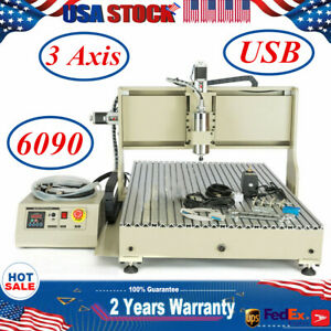 3axis Usb Cnc 6090 Router Engraver Carving Drill Cutter Woodwork Diy Machine Vfd