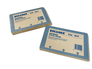 Vintage Rolodex C58 Refill Cards 5 X 8 100 Ct Lot Of 2 Sealed Old Stock