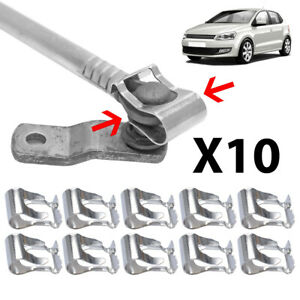 10pcs Car Windshield Wiper Link Linkage Rods Repair Clip Spring Clamp Universal