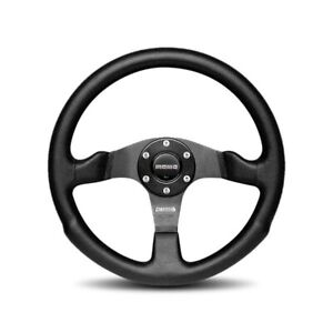 Momo Competition Leather Steering Wheel 350mm Com35bk0b Perforated Leather Grip