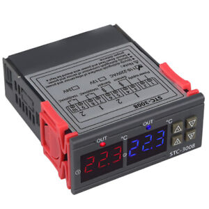 3x stc 3008 110 220v Dual Digital Thermostat Temperature Controller For Inc3o5