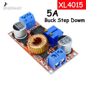5pcs 5a Dc Current Voltage Regulator Buck Step Down Cccv Converter Module Xl4015