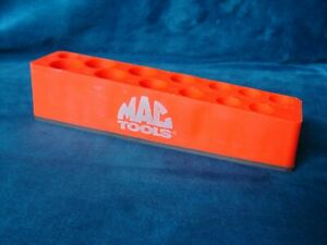 Mac Time Saver Deep Socket Tray 13 Hole Red W Magnetic Base Magnet