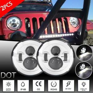 Dot 7 Inch 300w Led Headlight Hi lo Projector For Chevy C10 Camaro Pickup Truck