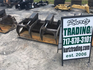 2005 Bobcat 66 Hd Industrial Grapple Bucket Attachment For Skid Steer Loaders
