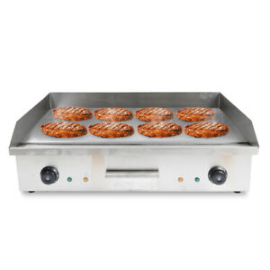 4400w Commercial Electric Griddle Countertop Large Hotplate Bbq Grill Egg Bacon