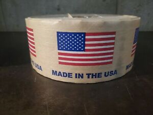 Gummed Tape reinforced american Flag Tape 10 Roll s 450 Ft Ea Niceeeeeeee