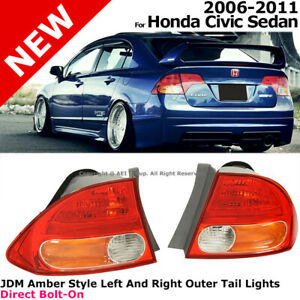 For Honda Civic 2006 2011 4d Fd2 Jdm Style Rear Tail Light Lamp Red Amber Clear
