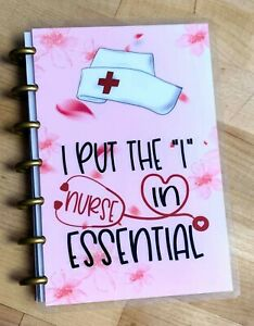 Essential Nurse Pink Flower Cover Set For Use With The Mini Happy Planner