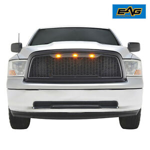 Eag Mesh Grille Replacement Led Upper Grill Fit Dodge Ram 1500 2009 2012