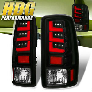 For 2000 2006 Chevy Gmc Suburban Yukon Denali Black Red Led Tail Lights Lamps