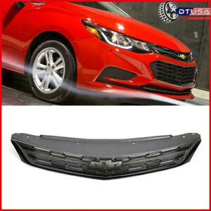 All Black Front Bumper Upper Grille Grill For Chevy Chevrolet Cruze 2016 2018