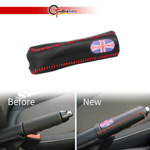 Red Blue Union Jack Hand Brake Sleeve Leather Cover For Mini Cooper F56 F55 F54