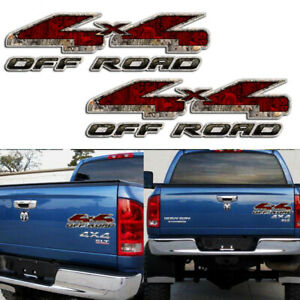 Tailgate 4x4 Off Road Rear Decal Leopard Print Car Truck For Dodge Ram 1500 2500
