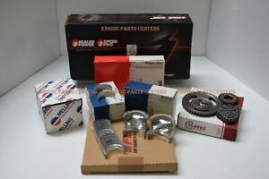 Chevy 427 Master Engine Kit Forged Pistons Hd Timing Springs 30 Clevite a