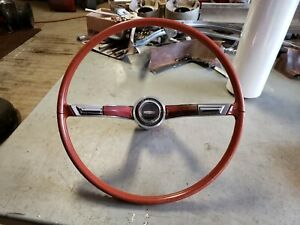 Red Steering Wheel 1964 Jetstar 1 Starfire Dynamic Super 88 98 1963 1965
