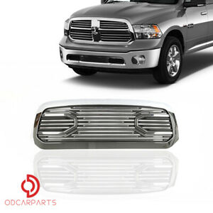 Fits Dodge Ram 1500 2013 2018 Front Upper Grille Grill Chrome Big Horn Style