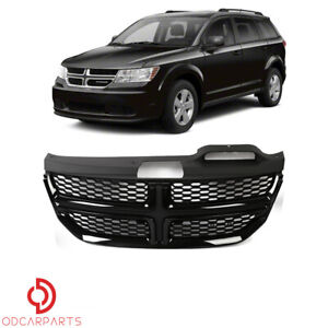 Fit Dodge Journey 2009 2016 Front Upper Grille With Gloss Black Trim Honeycomb