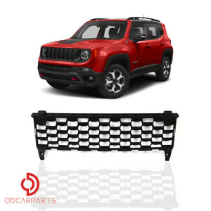Fits Jeep Renegade 2015 2018 2 4l Front Bumper Lower Grille Matte Black