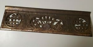 Antique Heavy Cast Iron Fancy Heat Register Grill Grate For Wall Floor Vent