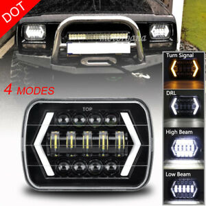 105w 5x7 7 X6 Led Headlight Hi Lo Beam Halo Drl Bulb For Jeep Xj H6014 H6054 Us