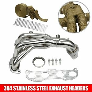 For 02 06 Altima 2 5 4cyl L31 Qr25de Stainless Racing Header Manifold Exhaust