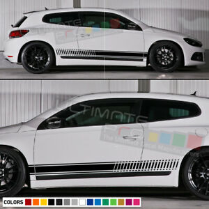 Stickers Decal For Vw Volkswagen Scirocco Racing Stripe Kit Xenon Headlights Lip