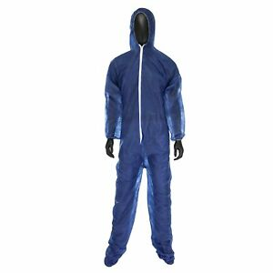 Protective Safety Sbp Coverall Blue 2xl Hood And Boots West Chester