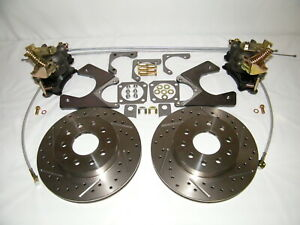 Gm G body Rear Disc Brake Conversion Kit Drilled Slotted Rotors 78 88