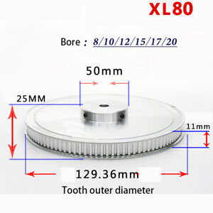 Xl Timing Belt Pulley 80 Teeth Bore 8mm 10mm 12mm 3d Printer Synchronous Wheel