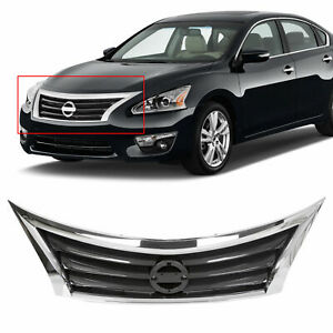 For 2013 2014 2015 Nissan Altima Front Bumper Grille Upper Grill Assembly Chrome