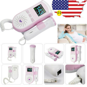 3mhz Color Fetal Doppler Prenatal Baby Heart Monitor Lcd Dual Interface With Gel