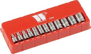 Welzh Wekzeug 1 4 Dr 12pc Af Imperial Sae Socket Set 12 Point Fits Harleys