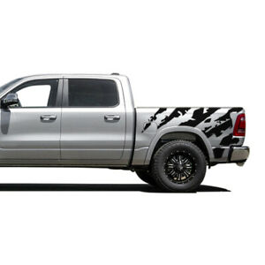 Ram Horn Graphic Side Bed Stripes Decal Sticker For Dodge Ram Crew Cab Str8 1500